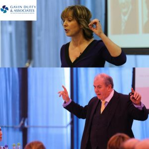 Orlaith and Gavin deliver communications skills training